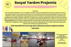"""Tarsus SEV Ortaokulu'nun """"Bir Kitap da Senden Olsun"""" adlı sosyal yardım projesine destek verdik!"""